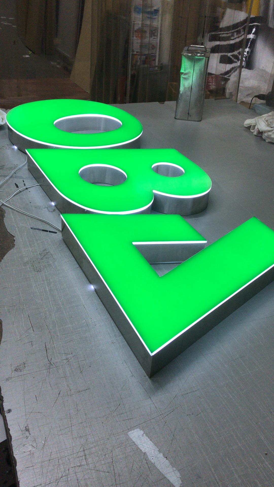 大庭産業様<br>「LEDチャンネル文字縁なしタイプ」